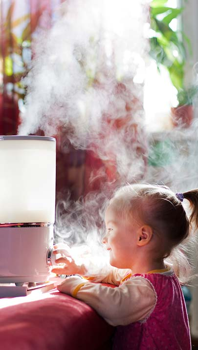 Humidifier in Kids Room