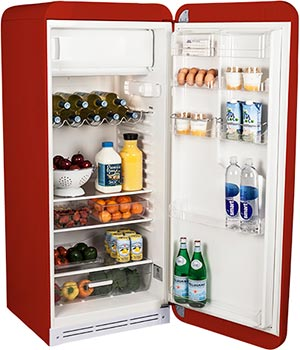 refrigerator new. red refrigerator new e