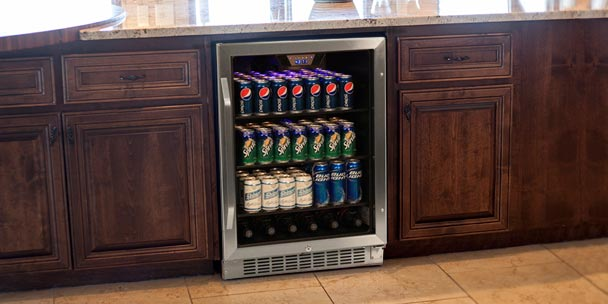 utilizing your small space vs builtin beverage - Built In Wine Fridge