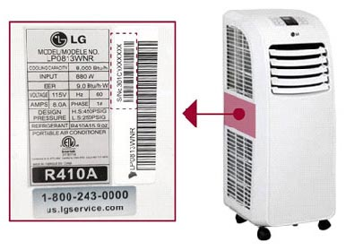 LG Portable Air Conditioner Recall