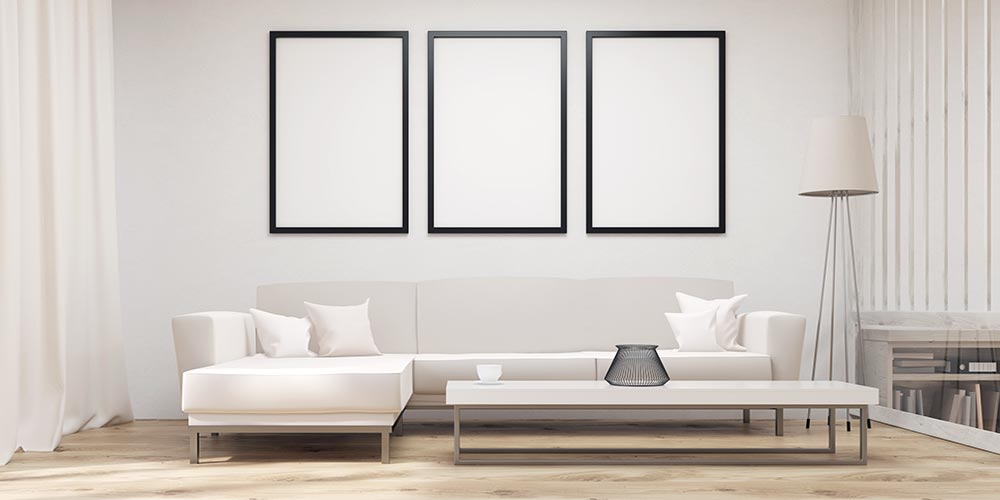 7 tips to creating a minimalist living room for White minimalist living room